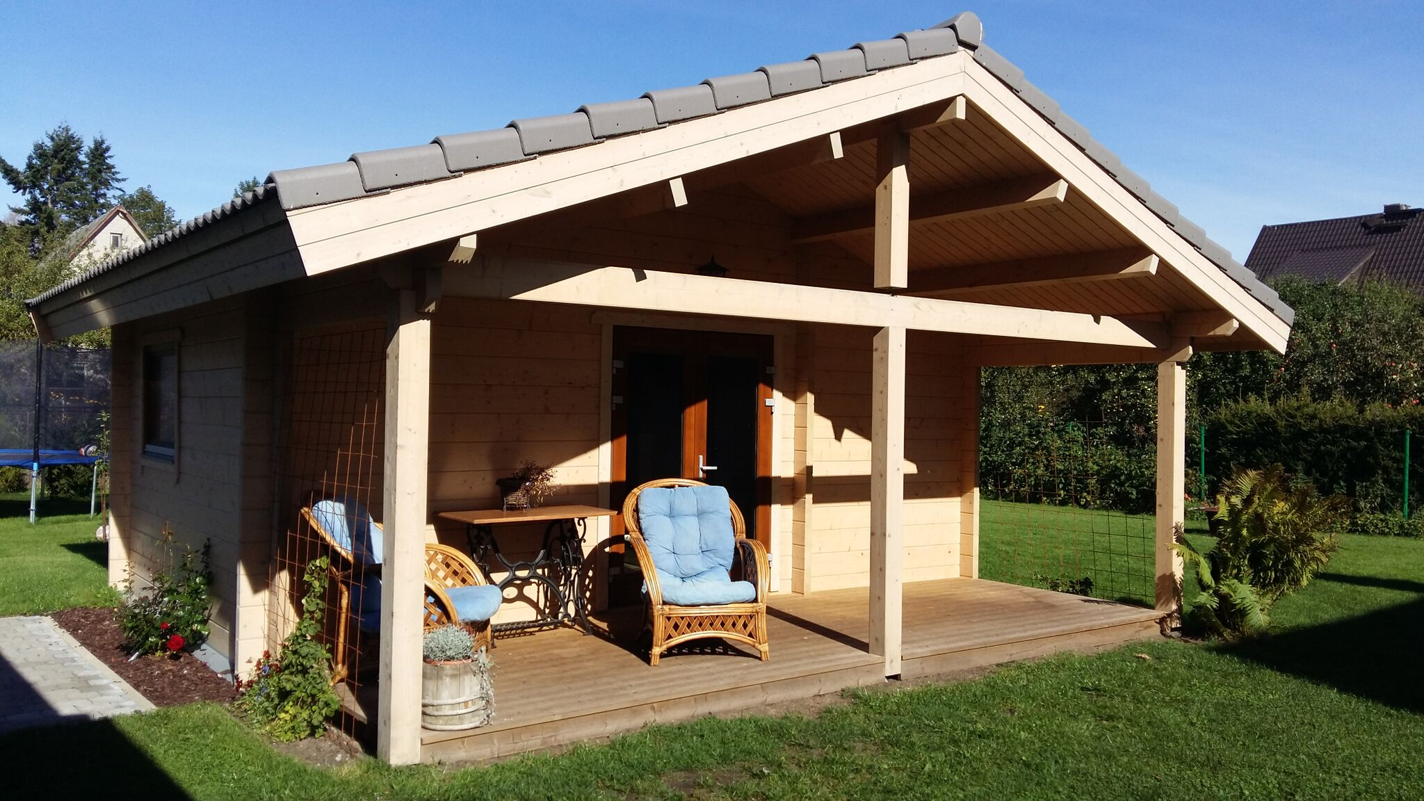 gartenhaus mit sauna hapo b70 jphouses. Black Bedroom Furniture Sets. Home Design Ideas